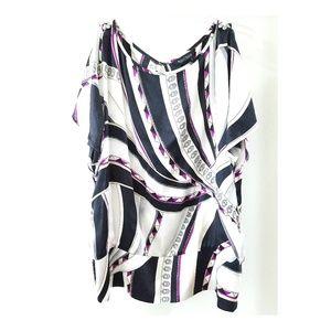 White House Black Market Silk Stretch Blouse Tunic